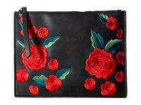 French Connection Edith Pouch Clutch Black Clutch Handbags