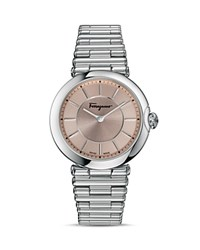 Salvatore Ferragamo Style Pink Dial Watch 36Mm