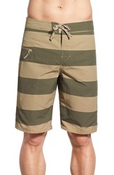 Men's Patagonia 'Wavefarer' Print Board Shorts Alisal Stripe Ash Tan