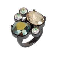 Nadia Minkoff The Kate Cocktail Ring Iridescent Green Gold