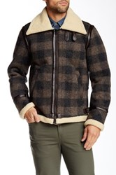 Diesel W Ojas Faux Fur Jacket Brown