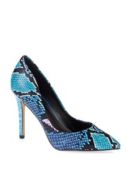 Charles By Charles David Pact Leather Stiletto Pumps Blue