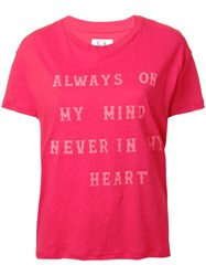 Zoe Karssen Quote Print T Shirt Red