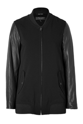 Rag And Bone Leather Sleeve Pacific Jacket In Black