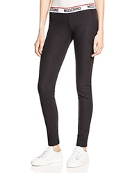 Moschino Cotton Leggings Black Nero
