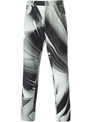 Christopher Kane Pages Print Trousers Grey