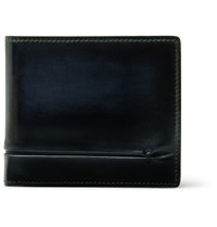 Berluti Makore Burnished Leather Billfold Wallet Blue