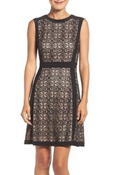 Adrianna Papell Women's Lace Fit And Flare Dress
