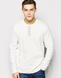 Solid Long Sleeve Grandad Top Offwhite