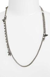 Treasure And Bond Women's Mixed Chain Crystal Necklace