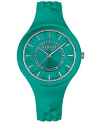 Versus By Versace Women's Fire Island Green Silicone Strap Watch 39Mm Soq07 0016