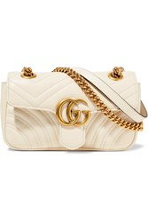 Gucci Gg Marmont Mini Quilted Leather Shoulder Bag Cream