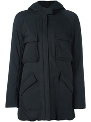 Ahirain Zipped Hooded Coat Black