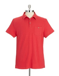 Kenneth Cole Pocket Polo Shirt Red