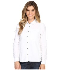 Mountain Hardwear Canyon Long Sleeve Shirt White Women's Long Sleeve Button Up