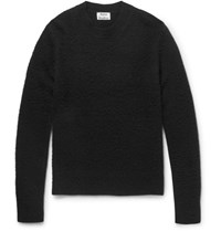 Acne Studios Peele Boiled Wool And Cashmere Blend Sweater Black