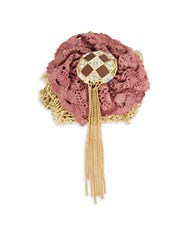 Design Lab Lord And Taylor Crocheted Fringe Pin Multi
