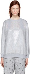 Ashish Ssense Exclusive Silver Sequin Sweatshirt