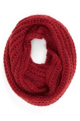 Bcbgeneration 'Scribble Loop' Knit Infinity Scarf Red