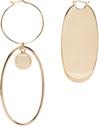 Stella Mccartney Gold Geometric Earrings