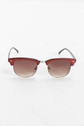 Urban Outfitters Two Tone Round Sunglasses Red