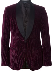 Dolce And Gabbana Smoking Jacket Pink And Purple