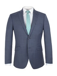 Racing Green Plain Weave Buggy Lined Tailored Jacket Airforce Blue
