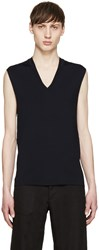 Neil Barrett Navy Sleeveless Knit Sweater