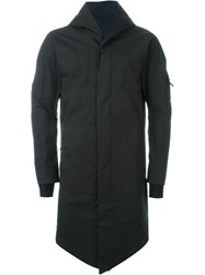 11 By Boris Bidjan Saberi Zipped Up Raincoat Black