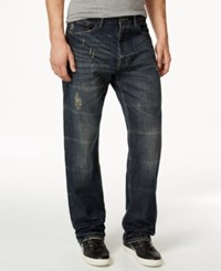 Sean John Patch Pocket Hamilton Relaxed Fit Jeans Deep Tinted Wash