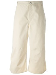 Walter Van Beirendonck Vintage Uneven Hem Trousers Nude And Neutrals