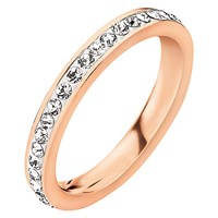 Folli Follie Match And Dazzle 2 Crystal Ring Rose Gold