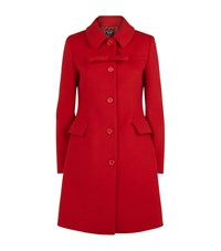Boutique Moschino Single Breasted Bow Coat Female Red