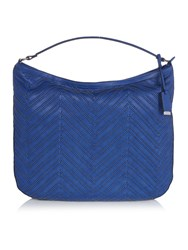 Marella Scorpio Woven Shoulder Bag Navy