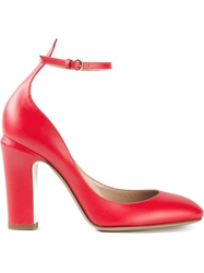 Valentino Ankle Strap Pumps Red