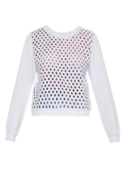 Carven Broderie Anglaise Jersey Sweatshirt