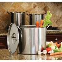 Cook Pro 8 12 And 16 Quart Stock Pot Set With Lids Stainless Steel Walmart.Com