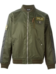 Pam Perks And Mini Patch Applique Bomber Jacket