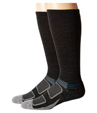 Feetures Elite Merino Light Cushion Crew 2 Pair Pack Charcoal Brilliant Blue Crew Cut Socks Shoes