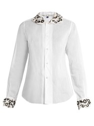 Jupe By Jackie Gentilly Long Sleeved Cotton Organdie Shirt White