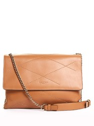 Lanvin Sugar Leather Shoulder Bag Camel