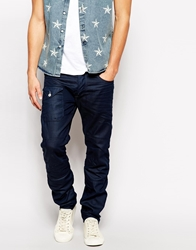 Jack And Jones Jack And Jones Loose Fit Jean With Tapered Leg Darkblue
