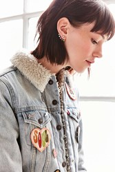 Urban Outfitters Annie Rhinestone Ear Jacket Earring Gold