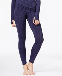Cuddl Duds Flex Fit Long Legging Blue