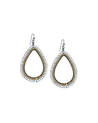 Nakamol Clear Crystal Teardrop Earrings No Color