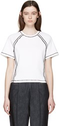 J.W.Anderson White Contrast Seam T Shirt