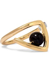 Uribe Zaha Gold Plated Agate Ring