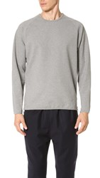 Camo Pedaso Raglan Side Zip Sweatshirt Gray