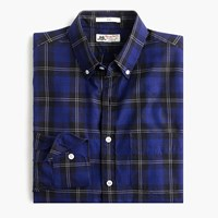 Thomas Mason For J.Crew Flannel Shirt In Hunting Tartan Obsidian