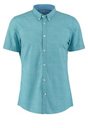 Tom Tailor Fitted Shirt Teal Blue Turquoise